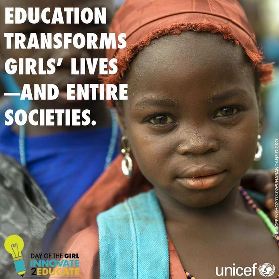 Girls' education is the single most powerful investment for development. It fights poverty, inequality, and discrimination. And, the children born to educated women are healthier and survive at better rates. The more girls we can get in school, the better the results! We're talking about new ways to do this on #dayofthegirl, 11 October at 9am EST. Join us! <a href=