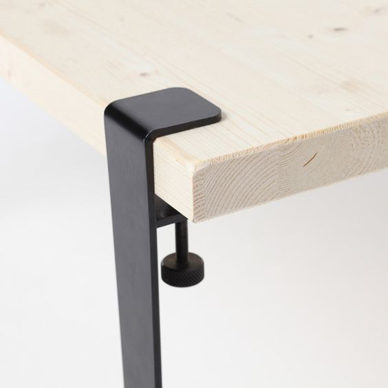 Tables design and produits et technologie on pinterest for Pied table design
