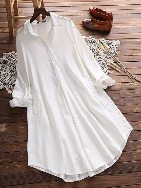80648102fde Buy Casual Dresses For Women at JustFashionNow. Online Shopping  JustFashionNow Plus Size Shirt Collar Women Casual Dress A-line Daily Dress  Casual Cotton ...