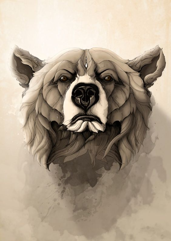 Grizzly Bear Art Print by Rafapasta | Society6