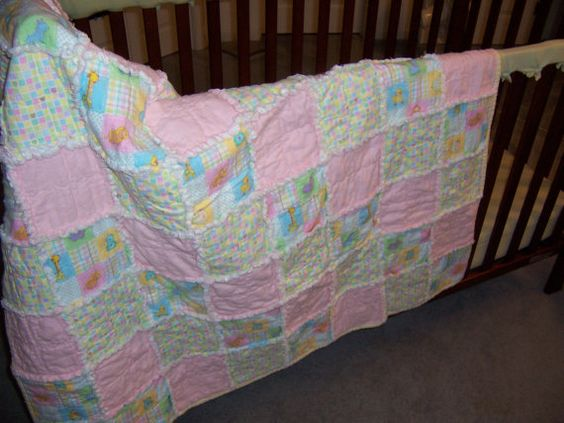 Baby Girl Quilt by stitchingknitting on Etsy, $29.00