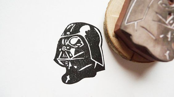 Star Wars Darth Vader Rubber Stamp by ttyr on Etsy, $20.00
