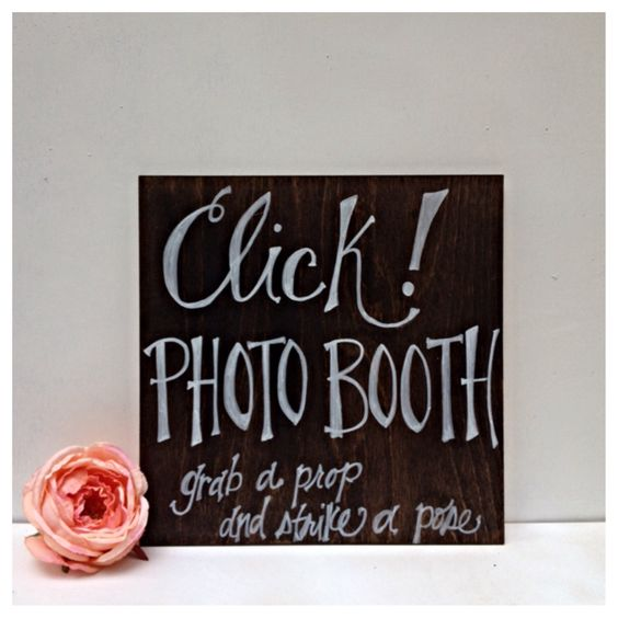 Click Photo Booth Rustic Wooden Wedding Sign by TheBeezeKnees on Etsy https://www.etsy.com/listing/243418938/click-photo-booth-rustic-wooden-wedding