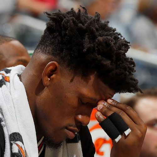 Jimmy Butler Hairstyle Low Bald Fade Twists