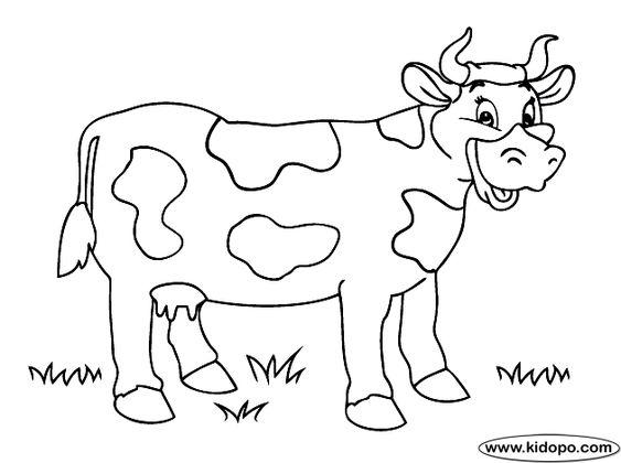 Vaca Para Colorear - Buscar Con Google