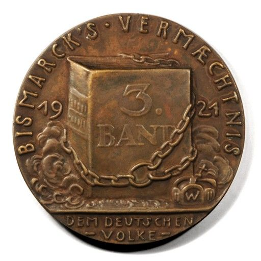 Thumbnail-image-of-1921-Bismarck-Memoirs-Forbidden-Legacy-Karl-Goetz-Medal | Black Mountain Coin | Black Mountain, NC