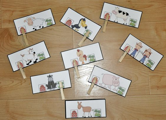 """Where Do They Live (Farm Themed Activity): Students attach one clothespin per card to indicate whether each animal lives on a farm or lives in the jungle.  This clothespin task is also part of the complete """"Busy Busy Farmer Brown Adapted Books Unit."""""""