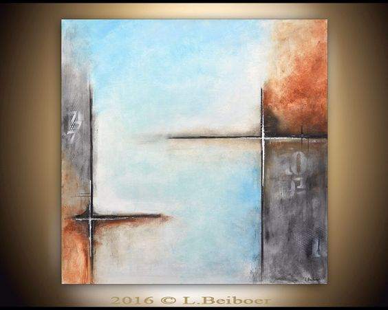 Abstract painting original large square painting 36x36 gray blue abstract raw modern contemporary art by L.Beiboer von RawArtGallery auf Etsy https://www.etsy.com/de/listing/197462619/abstract-painting-original-large-square