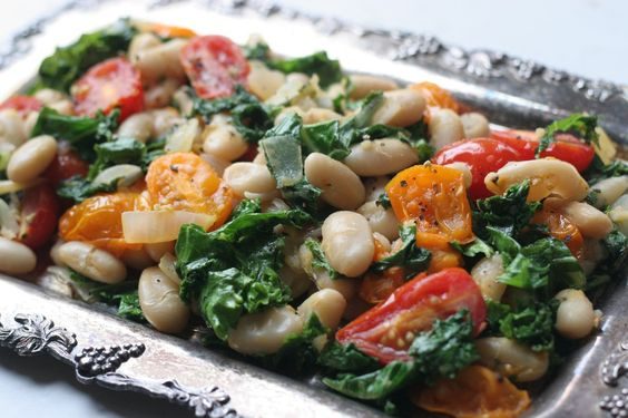 Simple and Warm White Bean and Kale Salad