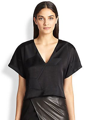 Alice+++Olivia Mapton+Cropped+Top