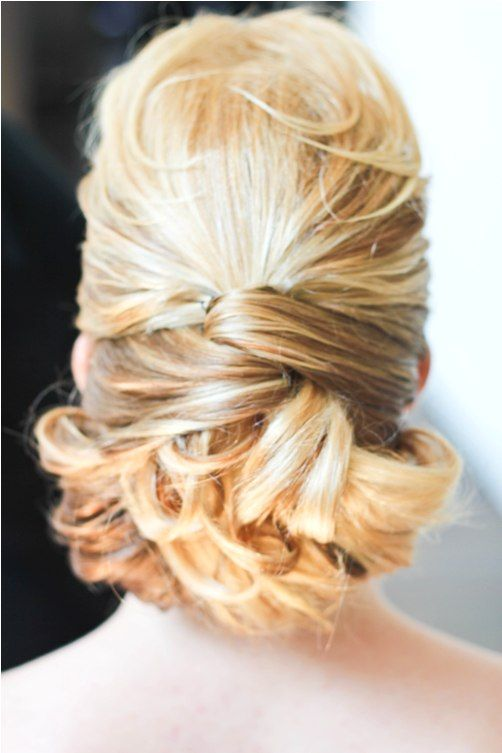 bridal hair- This is so pretty for medium length hair!