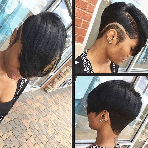 Edgy cut on @beingellamarie by @hairstylist_dom ✂️ Love the undercut❤️…