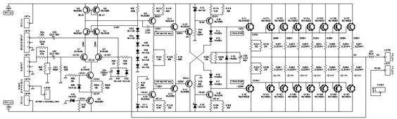 2000w Class Ab Power Amplifier Schematic Design Hifi Amplifier Audio Amplifier Power Amplifiers