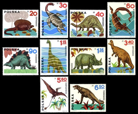 1965 Polish Dinosaur stamps