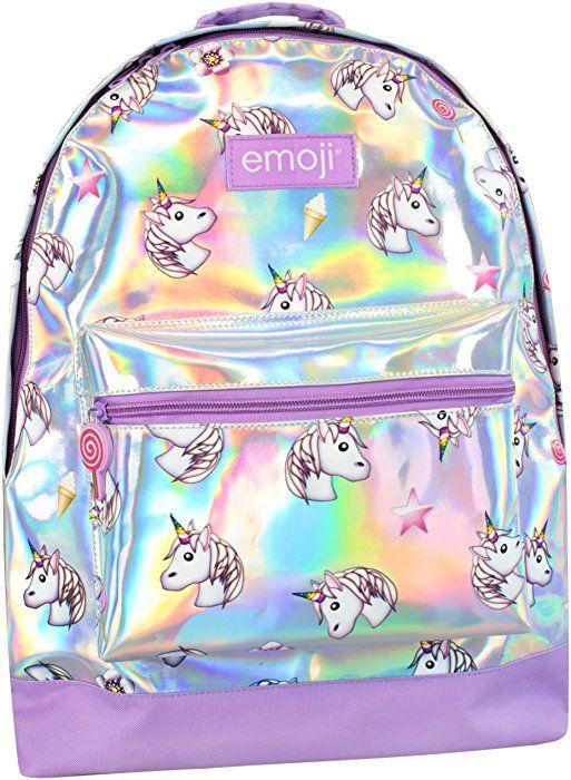 Amazon Com Emoji Girls Emoji Unicorn Backpack Clothing Girly Bags Girl Backpacks Unicorn Backpack