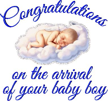 Image result for congratulations on your new baby boy gif