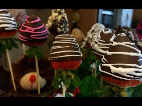 How to make Cream Cheese Stuffed Chocolate Covered Strawberries - YouTube