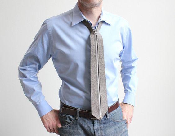 Gravata com zíper pode ser a solução para quem não acerta dar nó em gravatas