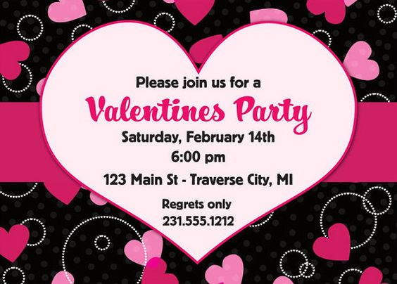 valentines invitation - valentines day party invitation - digital, Party invitations