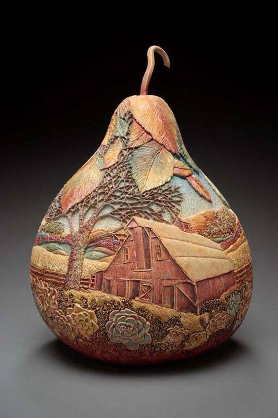 Gourd art patterns art spectacular gourd carving for Gourd carving patterns