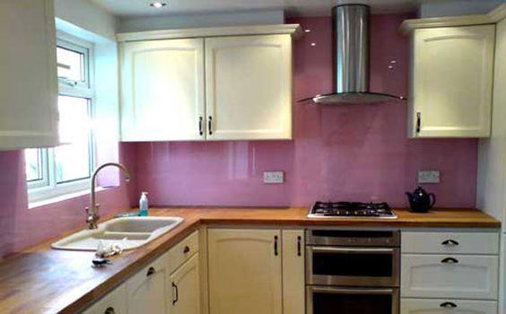 pink/purple splashback