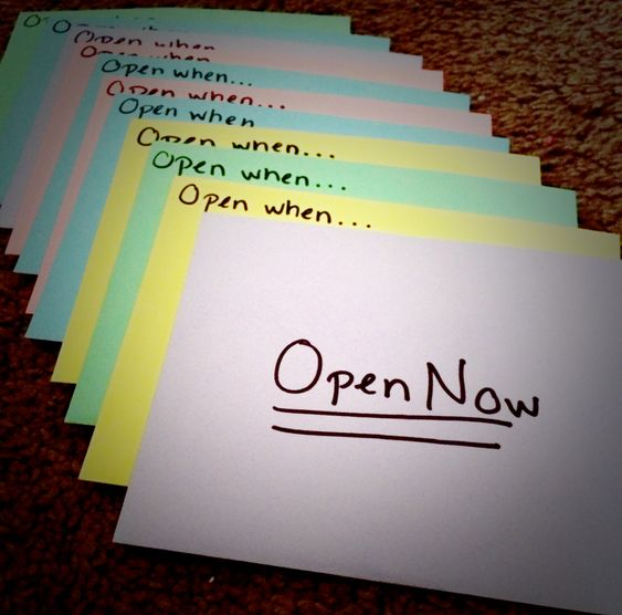 "Thoughtful Gifts For Boyfriend Christmas: ""Open When"" Letter Ideas For A Friend Or Boyfriend"