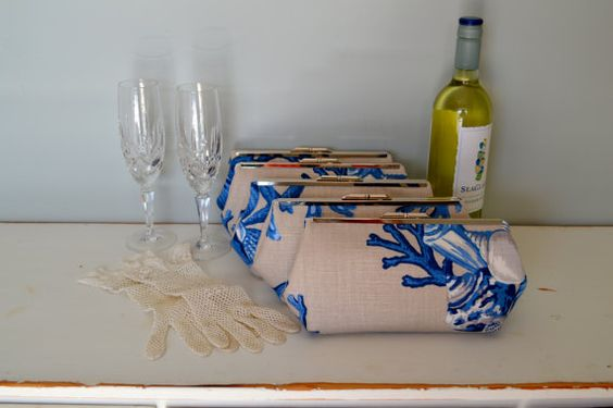 Free US Shipping Bridesmaid Set of Five Coastal by CoastalCate, $325.00