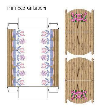 Recortable habitaci n de los ni os de casas de mu ecas for Crear habitacion 3d online