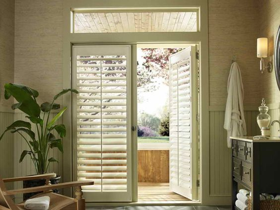 Back door window treatment idea 18 photos of the window for Back door french doors