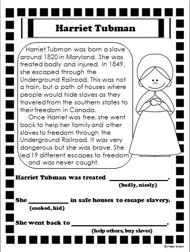 Free black history month worksheets for first grade