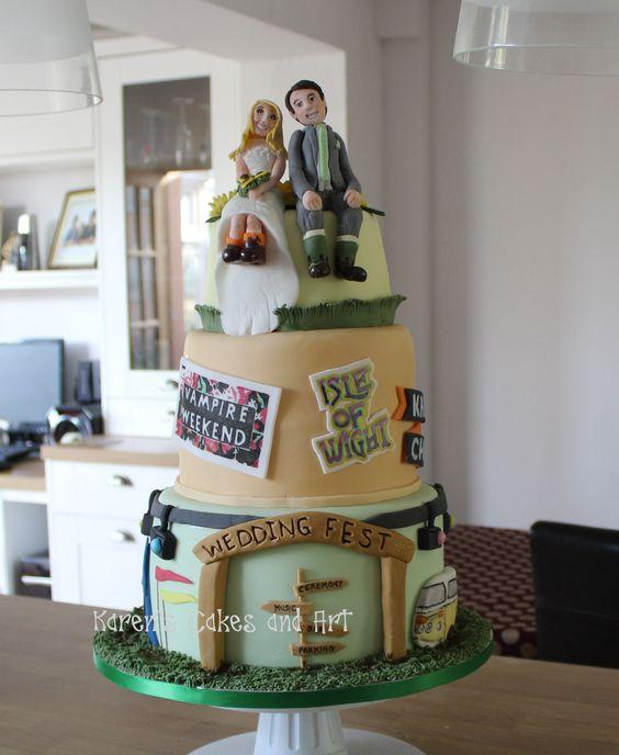 Music Festival Wedding Cake Vampire Weekend Isle Of Wight Engagement Pinterest Weddings And