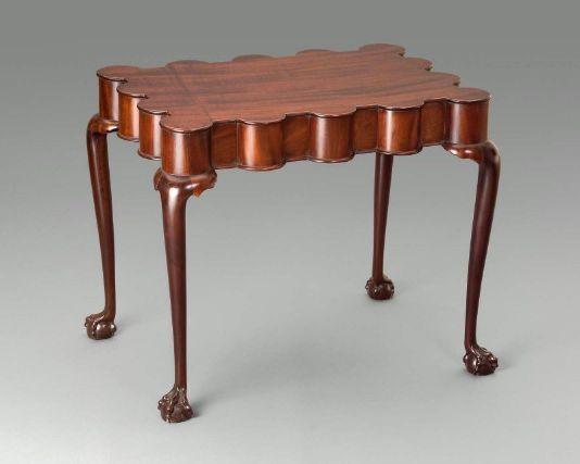 Turret top tea table. Boston, MA. 1760