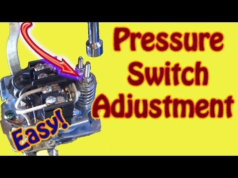 How To Adjust A Water Well System Pressure Switch And Bladder Tank Well Pump Diagnostics Youtube Well Pump Well Pump Repair Well Water System