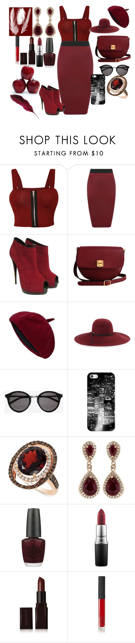 """Untitled #467"" by moniquedawson09123 ❤ liked on Polyvore featuring WearAll, Giuseppe Zanotti, The Code, Inverni, Yves Saint Laurent, Casetify, LE VIAN, Effy Jewelry, OPI and MAC Cosmetics"