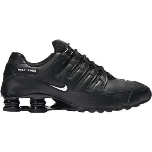 Classic Mens Nike Shox Deliver Leather Running Shoes Black Stealth