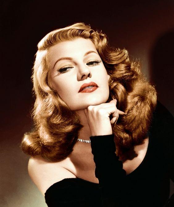 Actress Rita Hayworth in a rare color image.