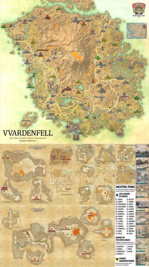 Grahtwood Map Eso : grahtwood, Vvardenfell, Elder, Scrolls, Online,