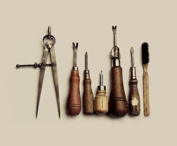 Old wooden tools, preferably from a grandpa, an uncle or the old man across the street.