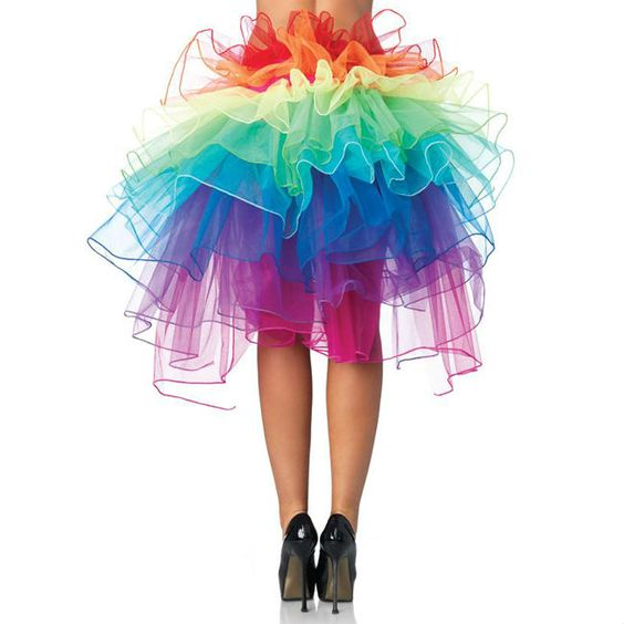 Sexy Colorful Fluffy Tutu Ballet Dance Rave Rainbow Skirt Ball Gown Dress Free shipping US $12.49