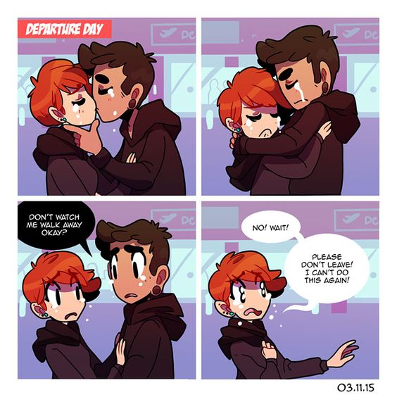 16 cute couple comics that capture the bittersweetness of long distance relationship