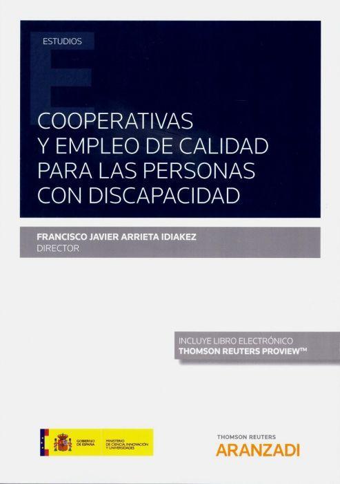 Cooperativas Y Empleo De Calidad Para Las Personas Con Discapacidad Aranzadi 2019 Seguridade Social