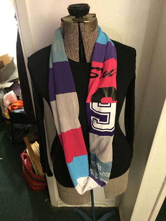 Serged scarf