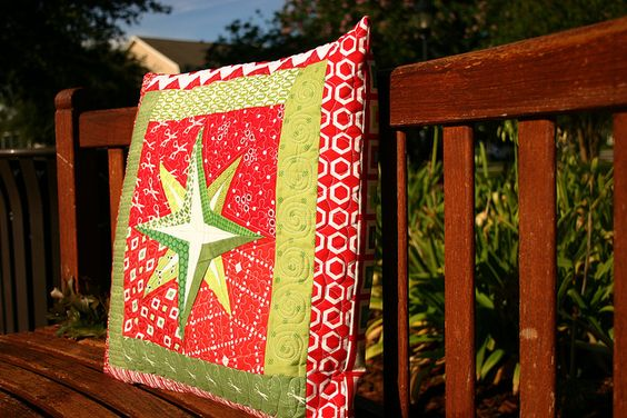 Mariner Star pillow   side view by Don't Call Me Betsy