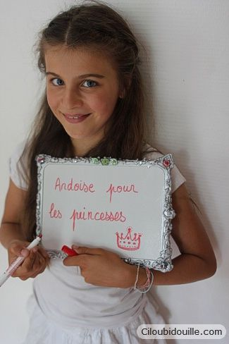 Customiser des ardoises velleda: you can count on Cilou for all of the good ideas (in French)