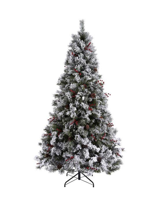 Phenomenal Bavarian Pine Christmas Tree With Snow 7Ft Easy Diy Christmas Decorations Tissureus