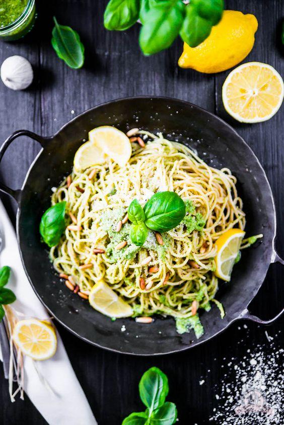 Basilikum Lemon Pasta – mit Frischekick ins Pastaglück… | Das Küchengeflüster | Bloglovin'