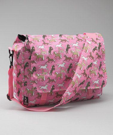 Another great find on #zulily! Pink Horses Kickstart Messenger Bag #zulilyfinds