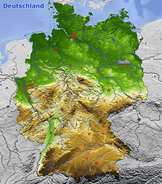 landkarte satellitenbilder deutschland Reliefkarte von Deutschland in 2020 | Karte deutschland