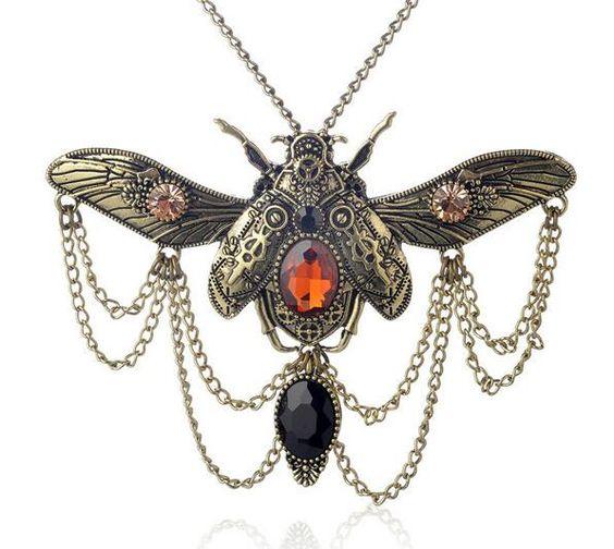 Beetle Steampunk Necklace