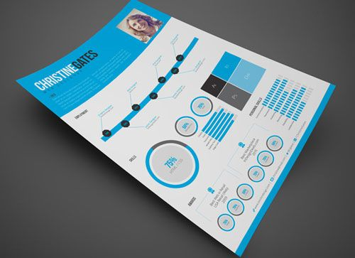 Free CV resume InDesign template 6